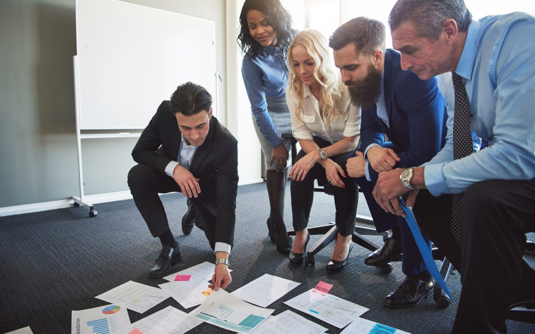 Why do companies walk 'Backwards into the future'?